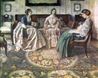 Три дамы. Художник Н.Ф. Петров