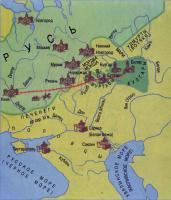Карта «Народы Среднего Поволжья». 10-13 вв.