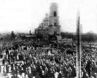 Демонстрация на Соборной площади в Пензе