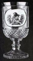 Фужер с изображением герба Бахметева