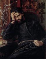 Картина Савицкого: Инок.