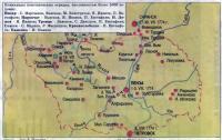Карта крестьянского восстания