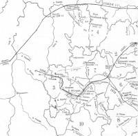 Карта «Оборонительные черты. 16-17 вв.»