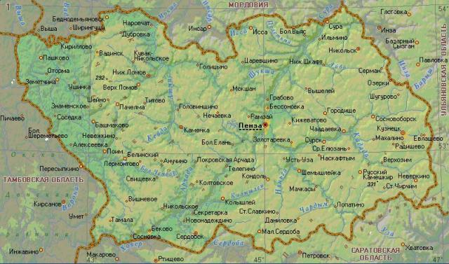 Кузнецк Карта Города