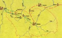 Карта Поход Степана Разина