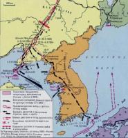 Карта русско-японской войны