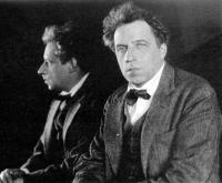 Портрет В.Э. Мейерхольда с зеркалом