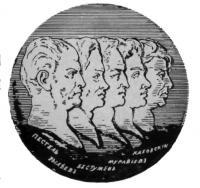 Портреты (профили) казнённых декабристов