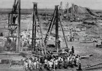Строительство железнодорожного моста через Суру