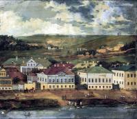 Вид Пензы. Акварель. 1840 г.
